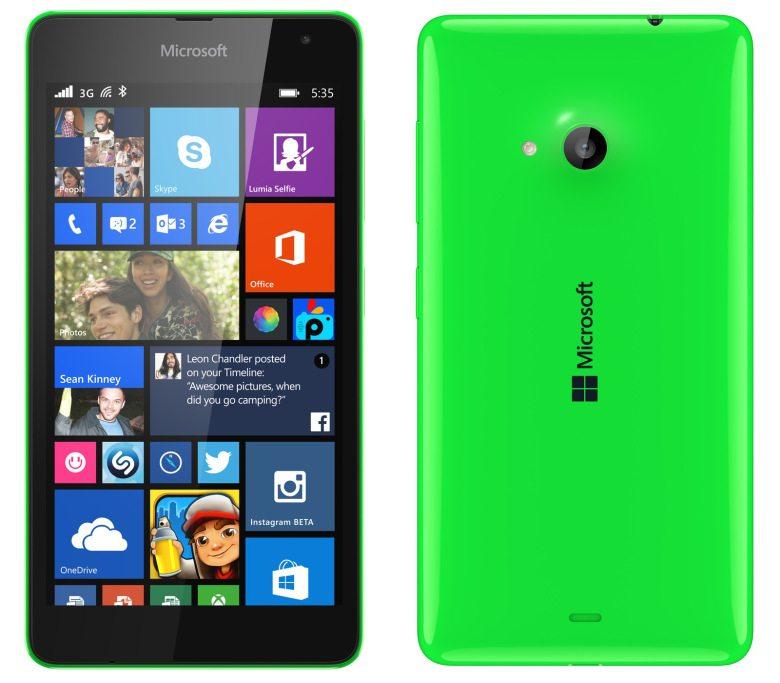 Microsoft lumia 535, first microsoft lumia