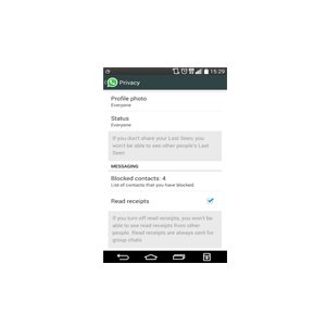 disable whatsapp read receipts