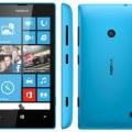 nokia lumia 520 blue front back side