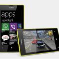 Nokia Lumia 520 front back