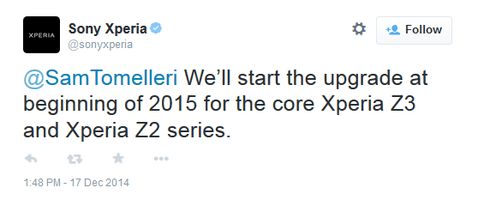 Sony Xperia Z3 and Xperia Z2 getting Android Lollipop, Sony Xperia Z series, firmware update, Android Lollipop, Xperia Z3, Xperia Z2