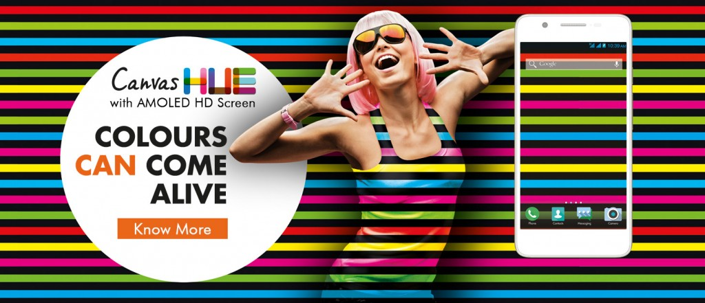 micromax canvas hue launch banner