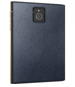 blackberry passport gold and black phone