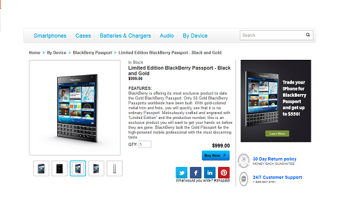 blackberry gold passport listed for sale in canada