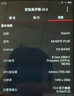 xiaomi mi note plus leaked details