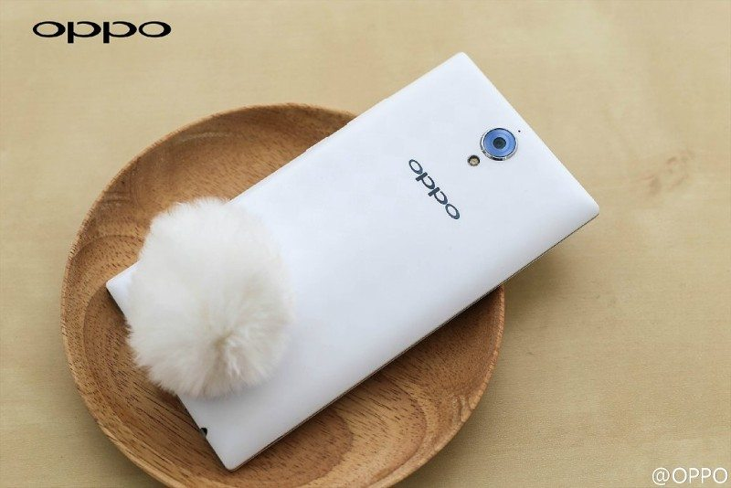 oppo u3 rabbit tail back cover