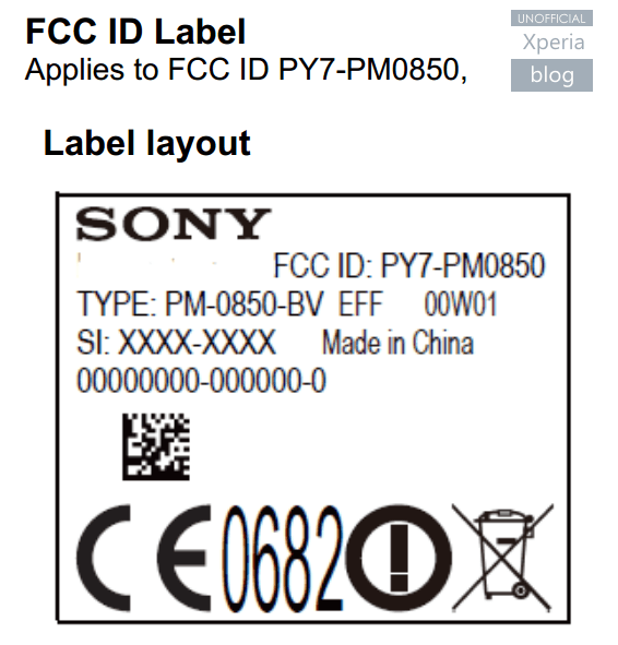 sony xperia z4 certification at fcc