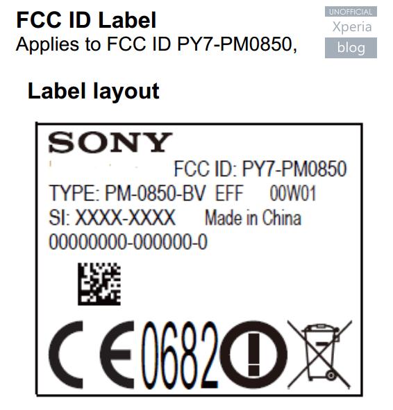 sony xperia z4 certification at fcc