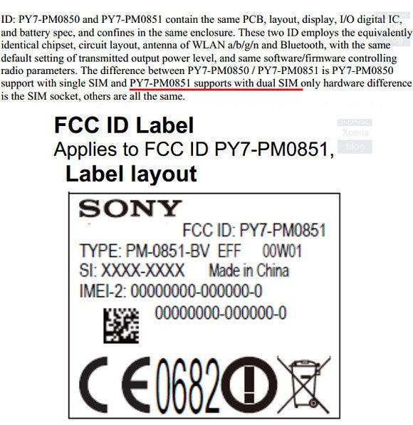 sony xperia z4 dual fcc document