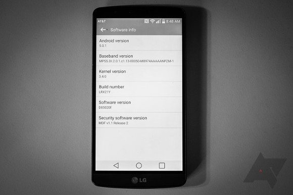 lg g3, android lollipop, android 5.0.1, update, software, firmware, at&t