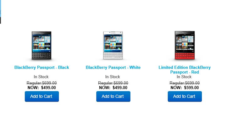 blackberry passport, sale, discount, valentine day, canada, us, price cut