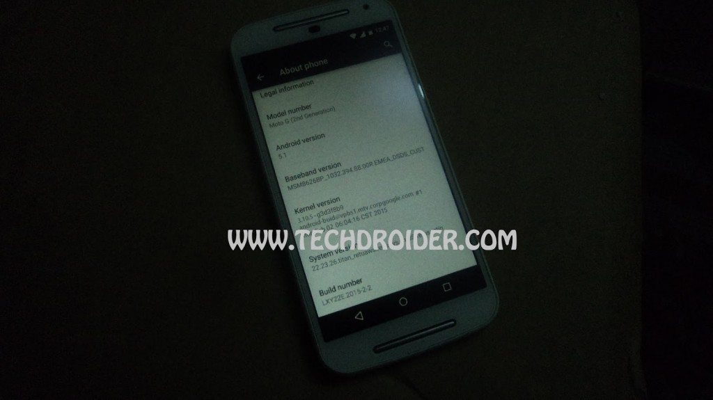 moto g, 2nd generation, 2014, android update, android 5.1, software update