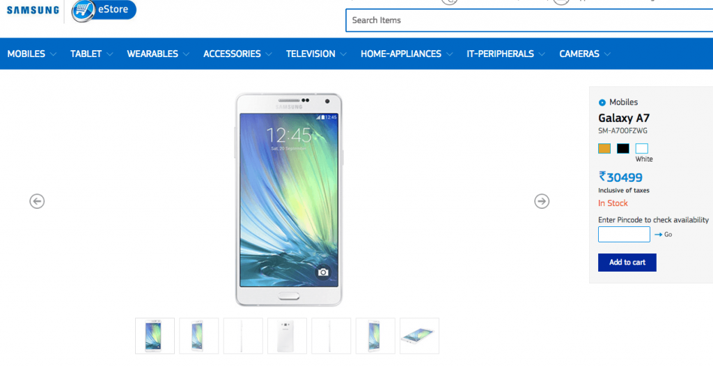 samsung galaxy a7, metal phone, price in india, launch in india, release date, buy