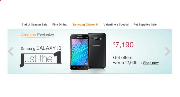 samsung galaxy j1, sale, india, amazon india, price, discount, buy, date, where