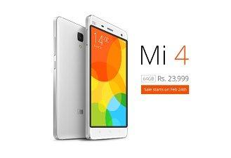 xiaomi mi4, 64gb model, white, india, price, date, smartphone, news, latest