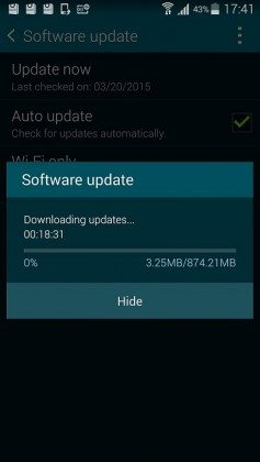 samsung galaxy s5 lollipop upgrade in india