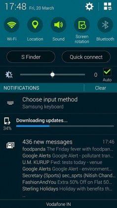 samsung galaxy s5 android lollipop update screenshot india