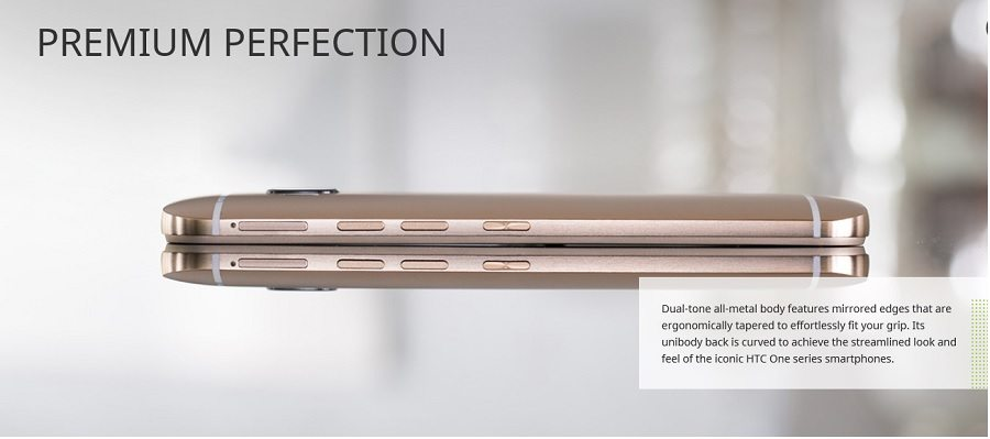 htc one m9 beautiful design, all gold color, metal frame