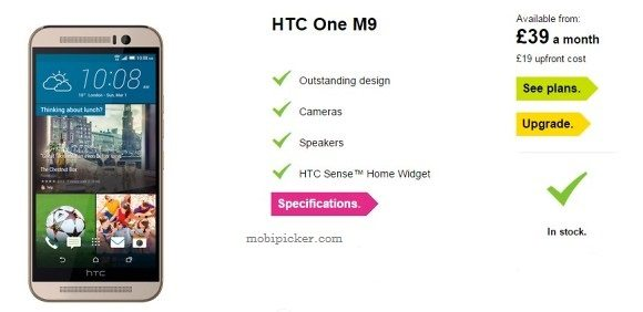 htc one m9 available for preorder from three uk