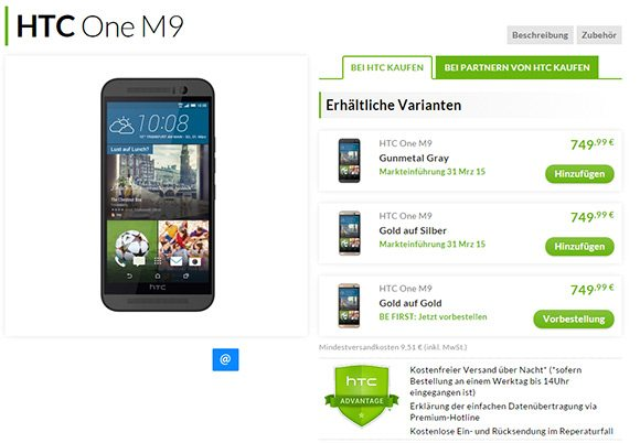 htc one m9, pre order, germany, price, available, release date in germany