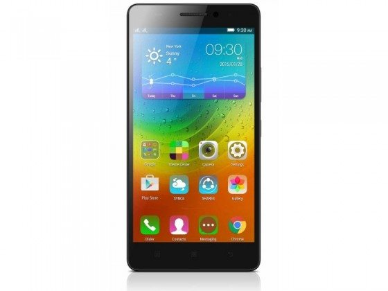 lenovo a7000 black front view