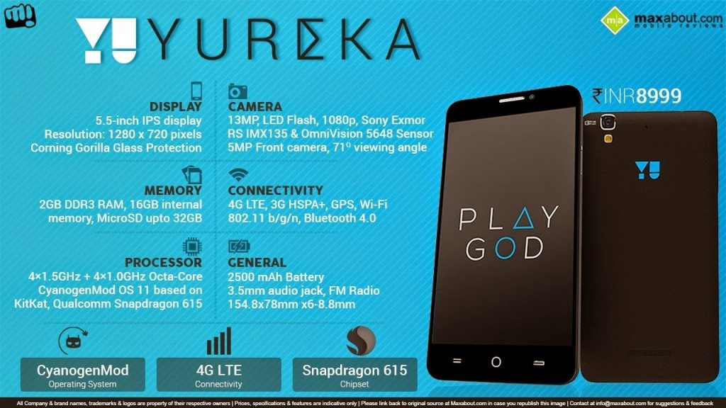 micromax yu yureka features, specification, specs, review, in depth, price