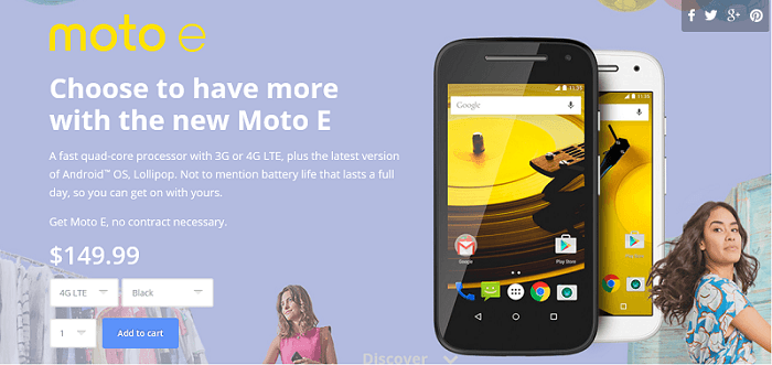 motorola moto e 2015, offical launch US, price, 4g lte, 3g only, buy