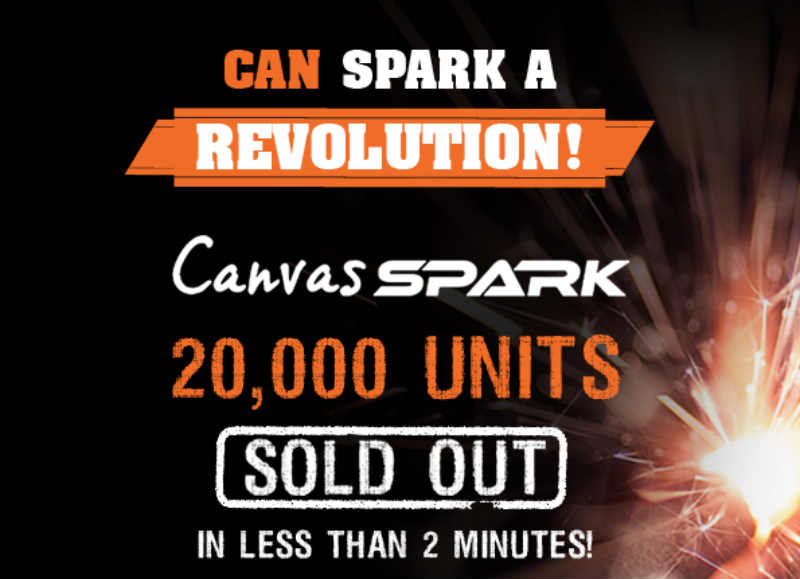 micromax canvas spark sold out in 2 minutes, price in india, flash sale