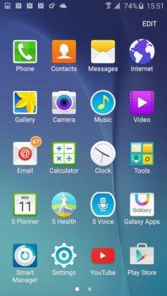 galaxy s6 display screenshot