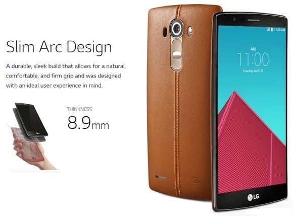 lg g4 slightly curved display