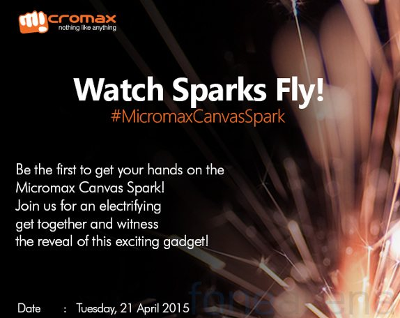 micromax canvas spark launch in india, release date, official event invites