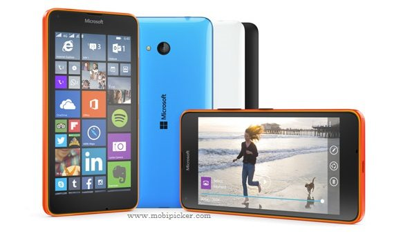 microsoft lumia 640 blue orange black white image