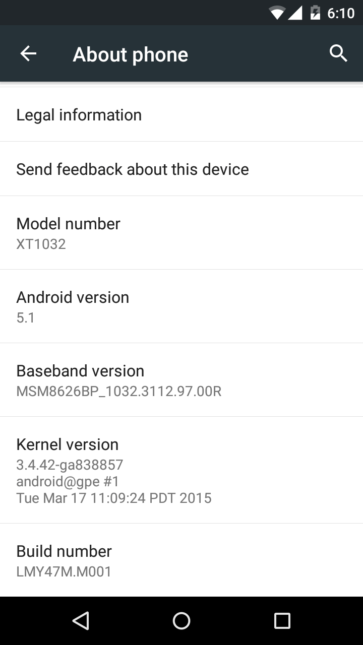 moto g google play edition gets android 5.1 update