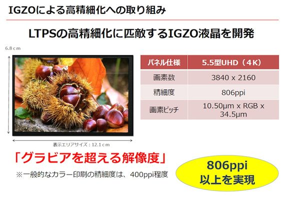 sharp announces 4k display mobile with 806ppi pixel density