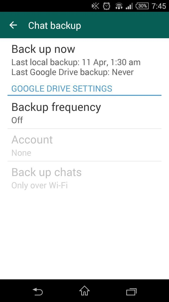 whatsapp conversations backup on google drive, how to