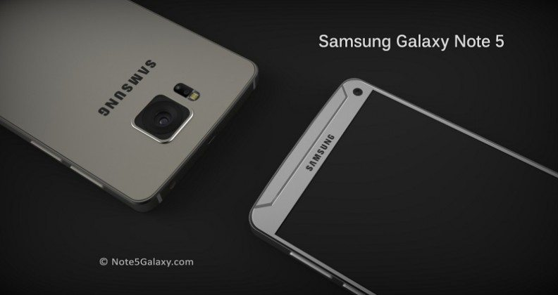 samsung galaxy note 5, front and rear, pic, release date