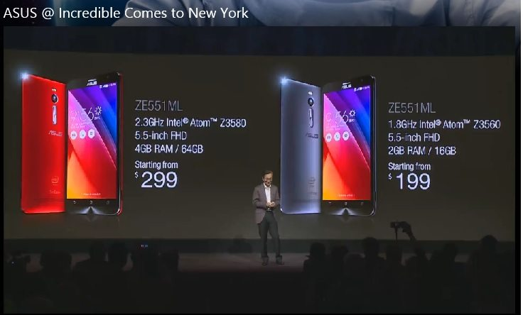 asus zenfone 2 price in usa, new york event, launch in north america