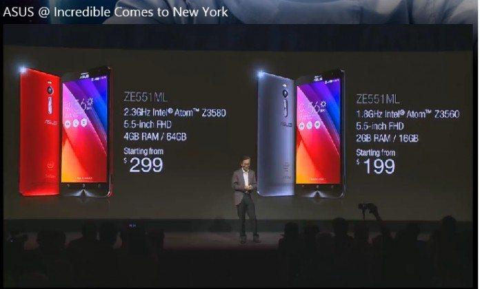 asus zenfone 2 price in new york