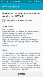 galaxy s6 ota update, memory issue, resolved, update
