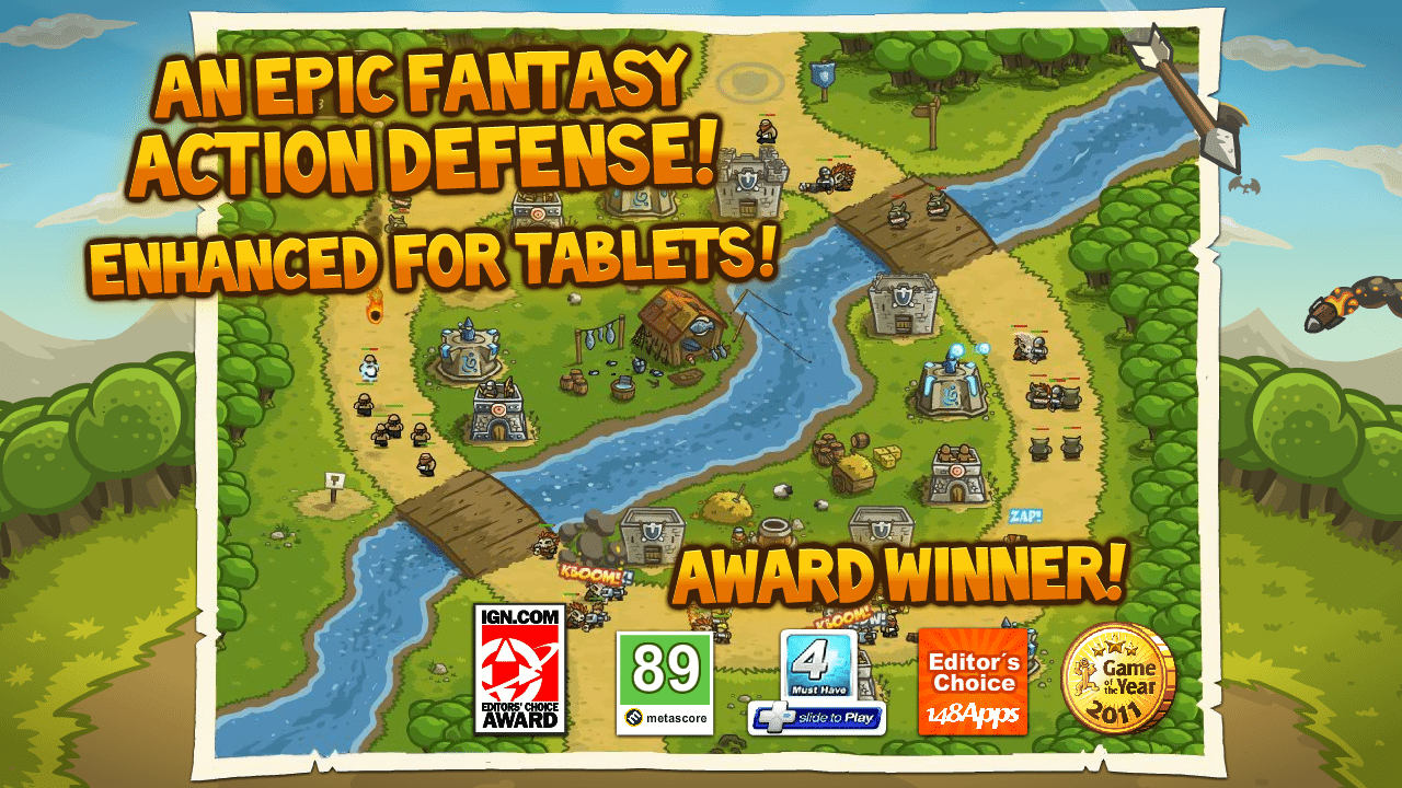 kingdom rush android game, free game, kingdom rush available for free