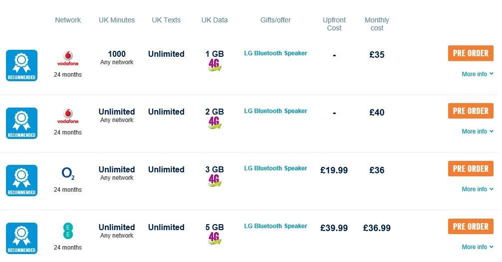 lg g4 pre-order, free lg p70 bluetooth speaker, price in uk, carphone warehouse