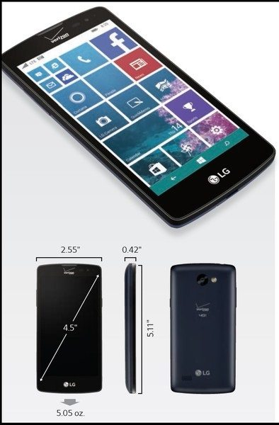 lg lancet, windows phone, verizon, picture, specifcation, specs, price