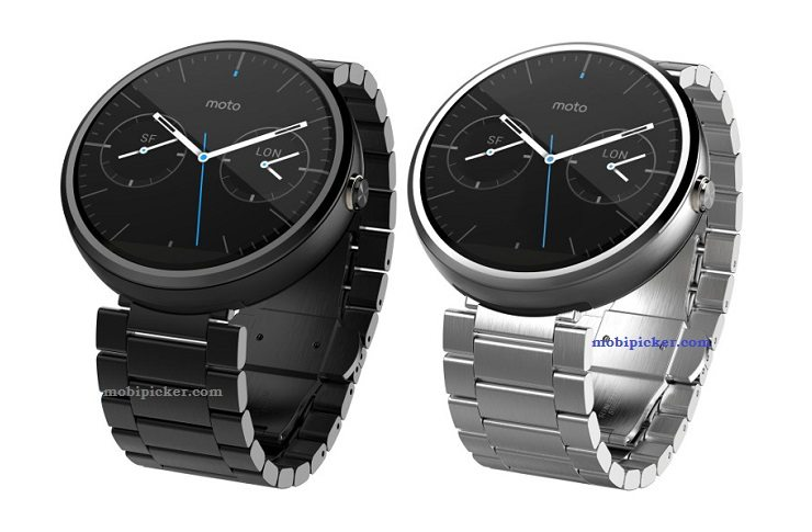 moto 360 smartwatch, discounted price, offer, stainless steel, leather, image, photo, pic