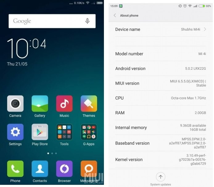 xiaomi mi 4i software update, v6.5.5.0, heating issue, solved, problems