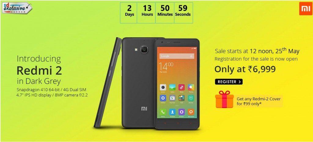 xiaomi redmi 2, price, flash sale, dark grey, one day sale, snapdeal