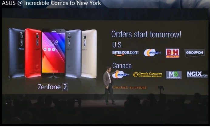 asus zenfone 2 usa purchase, available, stores