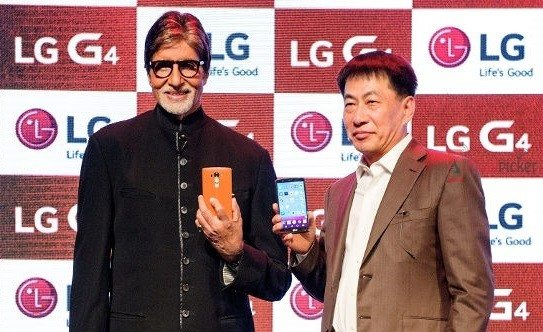 lg g4, launch, india, price, amitabh bachchan