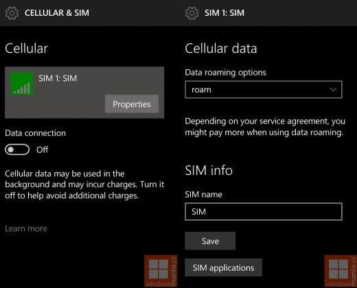 windows 10 mobile, screenshot