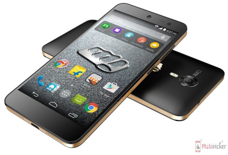 micromax canvas xpress 2 beautiful image, black and gold rim, specification