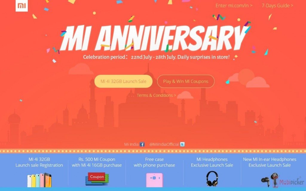 Xiaomi First birthday india